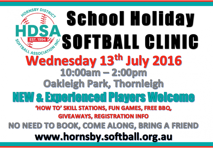 HDSA Holiday Softball Clinic